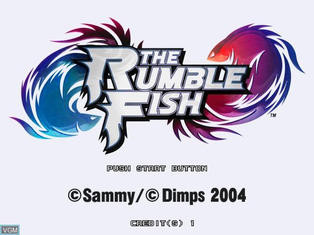 Image de l'ecran titre du jeu Rumble Fish, The sur Atomiswave