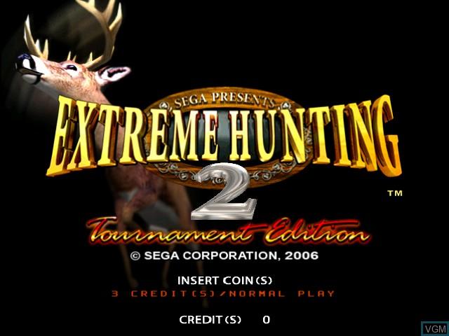 Image de l'ecran titre du jeu Extreme Hunting 2 - Tournament Edition sur Atomiswave