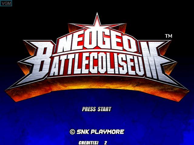 Image de l'ecran titre du jeu Neogeo Battle Coliseum sur Atomiswave