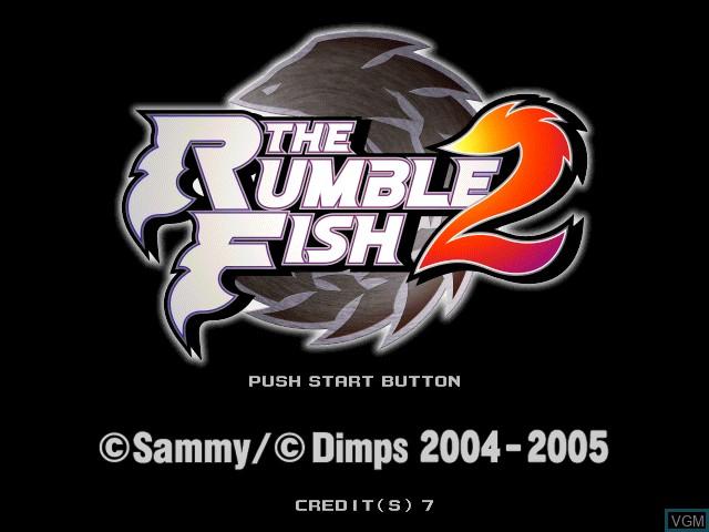 Image de l'ecran titre du jeu Rumble Fish 2, The sur Atomiswave