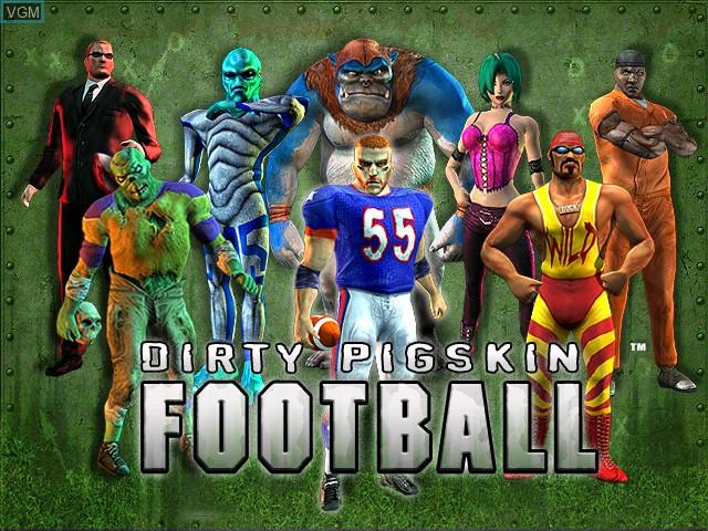 Image de l'ecran titre du jeu Dirty Pigskin Football sur Atomiswave