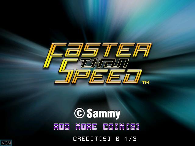 Image de l'ecran titre du jeu Faster Than Speed sur Atomiswave