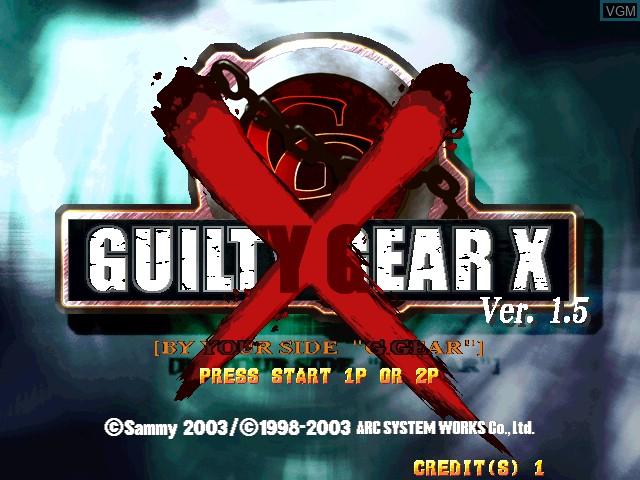 Image de l'ecran titre du jeu Guilty Gear X Ver. 1.5 sur Atomiswave