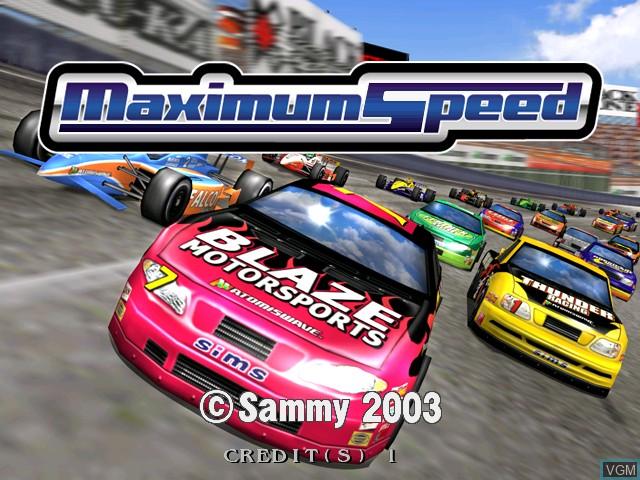 Image de l'ecran titre du jeu Maximum Speed sur Atomiswave