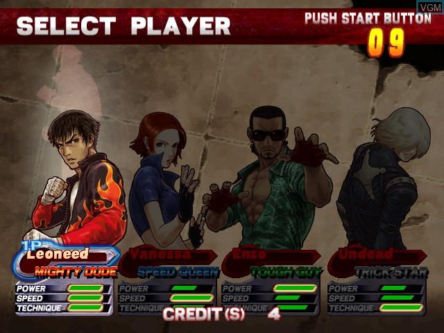 Image du menu du jeu Demolish Fist sur Atomiswave