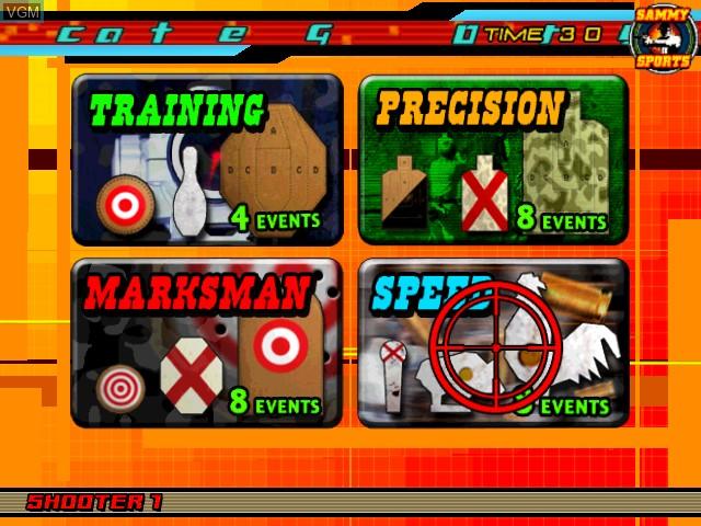 Image du menu du jeu Sports Shooting USA sur Atomiswave
