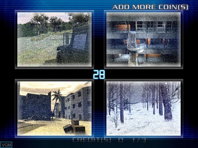Image du menu du jeu Ranger Mission sur Atomiswave