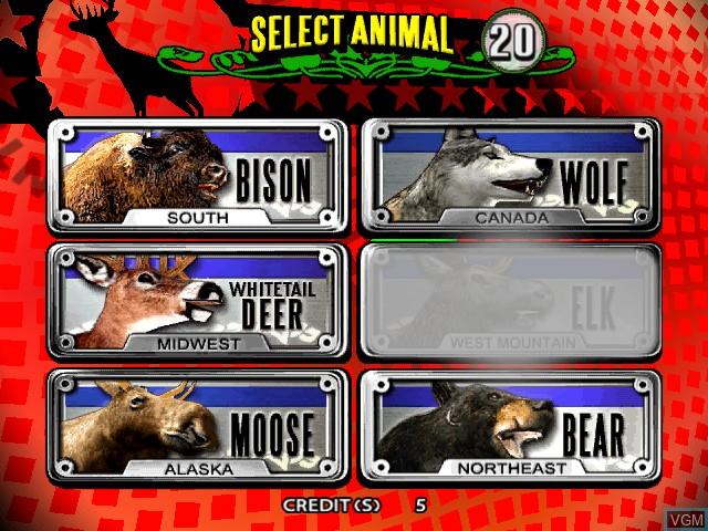 Image du menu du jeu Extreme Hunting 2 - Tournament Edition sur Atomiswave