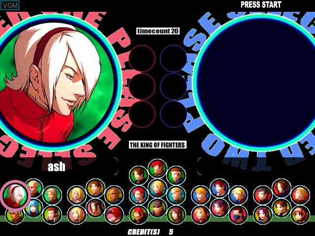 Image du menu du jeu King of Fighters XI, The sur Atomiswave