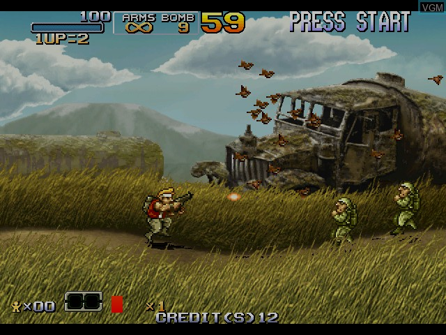 Image in-game du jeu Metal Slug 6 sur Atomiswave