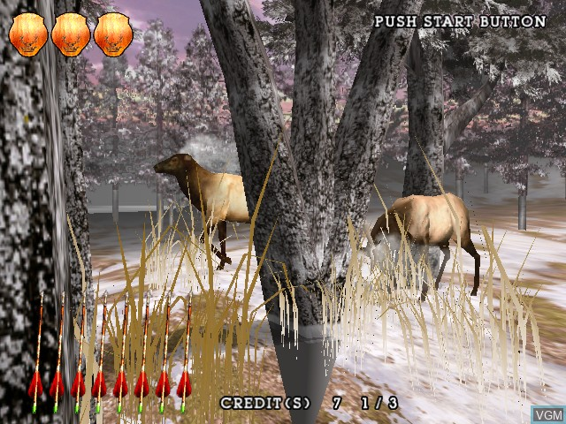Image in-game du jeu Extreme Hunting sur Atomiswave