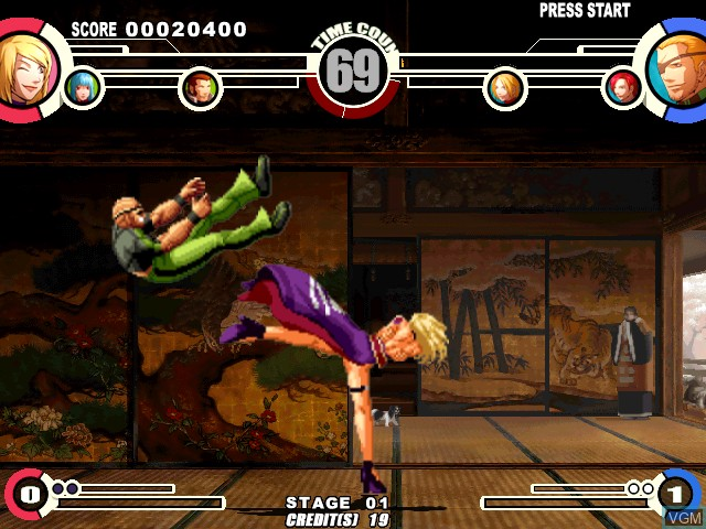 Image in-game du jeu King of Fighters XI, The sur Atomiswave