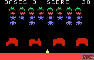 Image in-game du jeu Astro Battle AKA Space Invaders sur Bally Astrocade