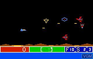 Image in-game du jeu Cosmic Raider sur Bally Astrocade