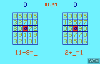 Image in-game du jeu Elementary Math & Bingo Math AKA Speed Math & Bingo Math sur Bally Astrocade