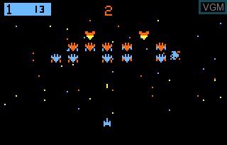 Image in-game du jeu Galactic Invasion AKA Galaxian sur Bally Astrocade