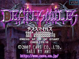 Image de l'ecran titre du jeu Deathsmiles sur Cave Cave 3rd