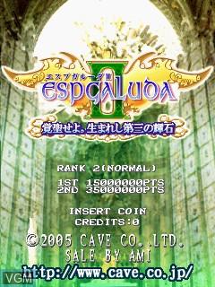 Image de l'ecran titre du jeu Espgaluda II sur Cave Cave 3rd