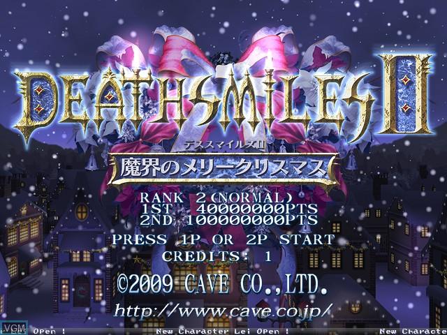 Image de l'ecran titre du jeu Deathsmiles II - Makai no Merry Christmas sur Cave Cave 3rd