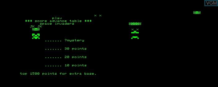 Image de l'ecran titre du jeu Space Invaders sur Commodore PET