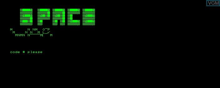 Image de l'ecran titre du jeu Space War sur Commodore PET