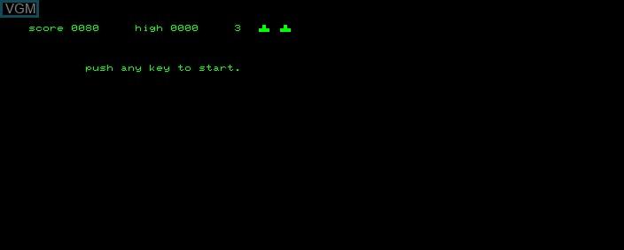 Image du menu du jeu Space Invaders sur Commodore PET