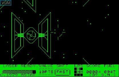 Image in-game du jeu Star Wars sur Commodore PET