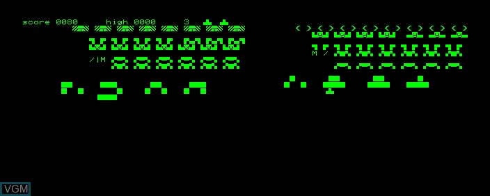 Image in-game du jeu Space Invaders sur Commodore PET