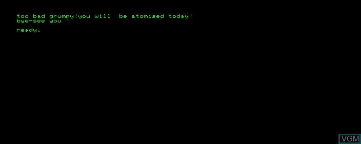 Image in-game du jeu Space War sur Commodore PET