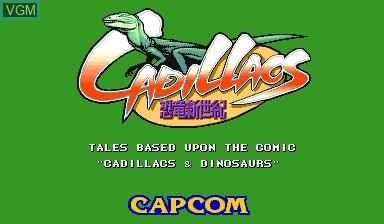 Image de l'ecran titre du jeu Cadillacs Kyouryuu-Shinseiki sur Capcom CPS-I