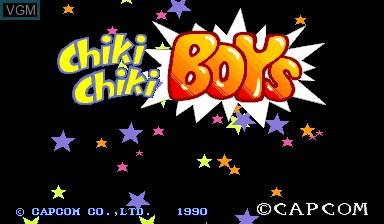 Image de l'ecran titre du jeu Chiki Chiki Boys sur Capcom CPS-I