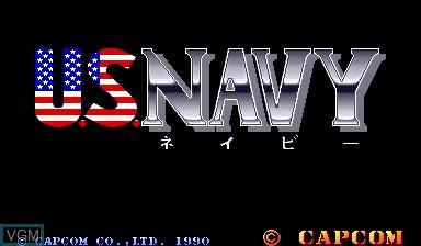 Image de l'ecran titre du jeu U.S. Navy sur Capcom CPS-I