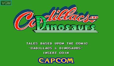 Image de l'ecran titre du jeu Cadillacs and Dinosaurs sur Capcom CPS-I