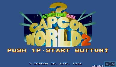Image de l'ecran titre du jeu Capcom World 2 sur Capcom CPS-I