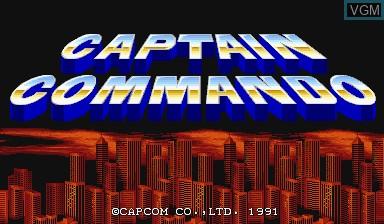 Image de l'ecran titre du jeu Captain Commando sur Capcom CPS-I