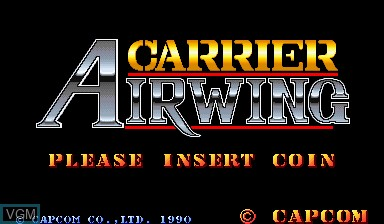Image de l'ecran titre du jeu Carrier Air Wing sur Capcom CPS-I