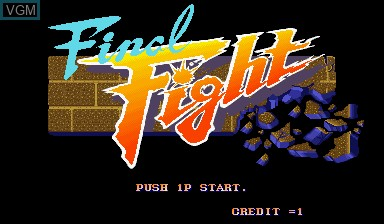 Image de l'ecran titre du jeu Final Fight sur Capcom CPS-I