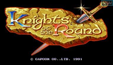 Image de l'ecran titre du jeu Knights of the Round sur Capcom CPS-I