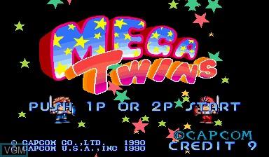 Image de l'ecran titre du jeu Mega Twins sur Capcom CPS-I