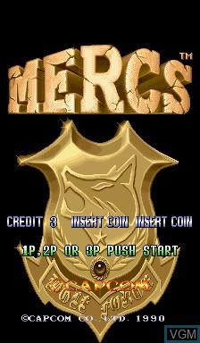 Image de l'ecran titre du jeu Mercs sur Capcom CPS-I