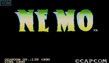 Image de l'ecran titre du jeu Nemo sur Capcom CPS-I
