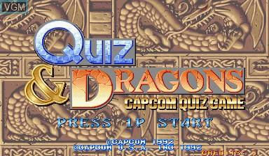 Image de l'ecran titre du jeu Quiz & Dragons sur Capcom CPS-I