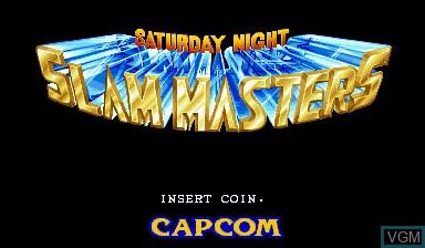 Image de l'ecran titre du jeu Saturday Night Slam Masters sur Capcom CPS-I