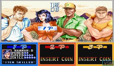 Image du menu du jeu Cadillacs and Dinosaurs sur Capcom CPS-I