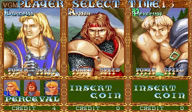 Image du menu du jeu Knights of the Round sur Capcom CPS-I