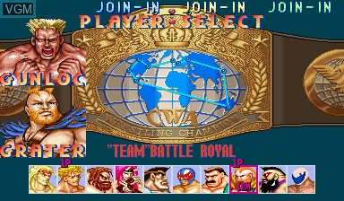 Image du menu du jeu Muscle Bomber Duo - Ultimate Team Battle sur Capcom CPS-I