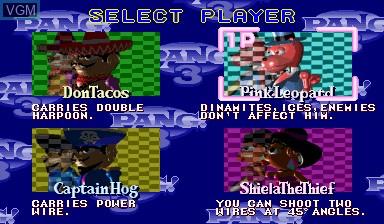 Image du menu du jeu Pang! 3 sur Capcom CPS-I