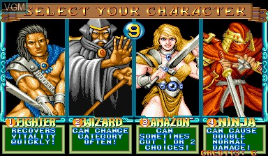 Image du menu du jeu Quiz & Dragons sur Capcom CPS-I