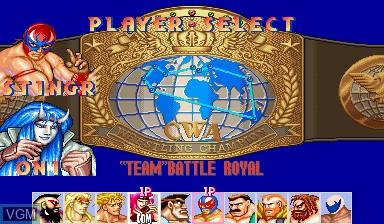 Image du menu du jeu Saturday Night Slam Masters sur Capcom CPS-I