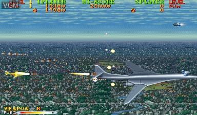 Image in-game du jeu Carrier Air Wing sur Capcom CPS-I